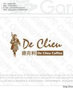 De Keli coffee LOGO design and brand font design