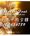 Chinese dragon Long xing shu ti Font