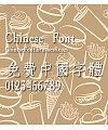Chinese dragon New fang song Font