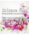 Chinese dragon Zhong cu yuan Font