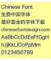 Dong qin Hei ti Font-Simplified Chinese