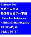 Silicon carbide Da hei ti Font-Simplified Chinese