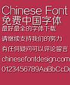 Fang Zheng zheng xian Hei zi ti Font-Simplified Chinese