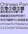 Hua kang Yuan yuan Font-Traditional Chinese