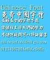 Jin mei Mao xing shu Font-Traditional Chinese
