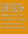 Microsoft Xian ti Font-Traditional Chinese