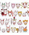 Small rabbit Emoticon Download-Gifs