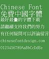 Chao yan ze Zhong ming ti Font-Traditional Chinese