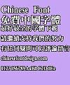 Super century Te ming yi biao zhuen Font – Traditional Chinese