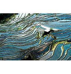 Permalink to Terraced Rice Field Photo-Rice terrace fields in Yunnan
