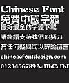 Fang zheng Shui hei Font-Traditional Chinese