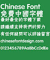 Fang zheng Yi hei Font-Traditional Chinese