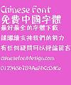 Fang zheng Zhan bi hei ti Font-Traditional Chinese