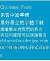 Han ding Zhong deng xian Font-Traditional Chinese