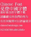 Gu yue xuan Cu ming ti Font-Traditional Chinese