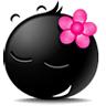 girl The Blacy of emoticons(Emoticon free download) Emoticon Emoji free