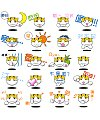 Cartoon cat face Emoticon Gifs free download