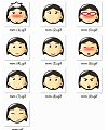 Girl cartoon portraits Emoji free download(Emoticon Gifs)