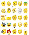 Cartoon characters of yellow pig Emoticon Gifs free download