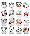 Lovely cartoon panda Emoticon Gifs free download