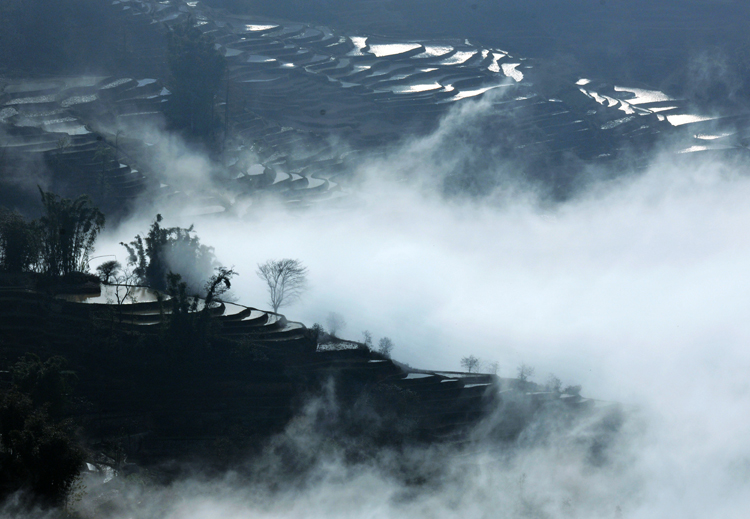 80 Terraces are another world-The beautiful scenery in hd photos in China