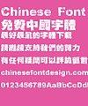 Wang han zong super bold figure lightning Font-Traditional Chinese