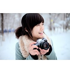Permalink to Beautiful girl play photography in winter