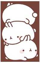 30 150 Molang Cartoon rabbit QQ emoticons emoji download