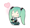 13 80 Hatsune Miku emoticons free download