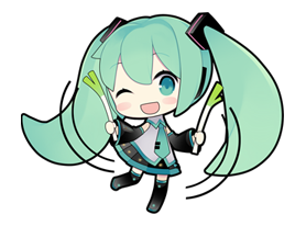 30 80 Hatsune Miku emoticons free download