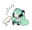32 80 Hatsune Miku emoticons free download