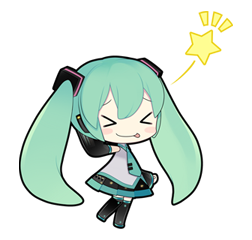 35 80 Hatsune Miku emoticons free download