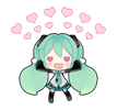 45 80 Hatsune Miku emoticons free download