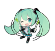 51 80 Hatsune Miku emoticons free download
