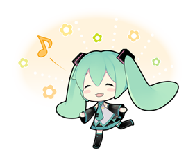 54 80 Hatsune Miku emoticons free download