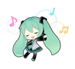 57 80 Hatsune Miku emoticons free download