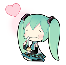 64 80 Hatsune Miku emoticons free download