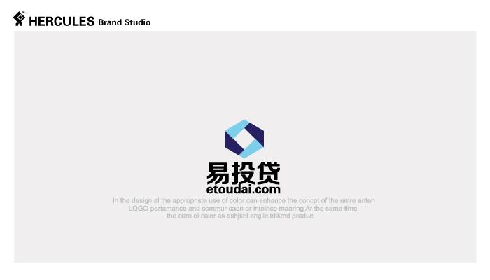 345 'Yi Tou Dai' Network lending investment company Logo Chinese Logo design