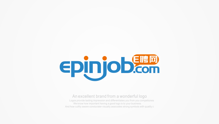 b41  'E Ping' Talent market recruitment online network company Logo Chinese Logo design