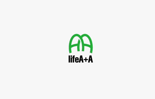 q32 'lifeA+A' Health care company Logo Chinese Logo design