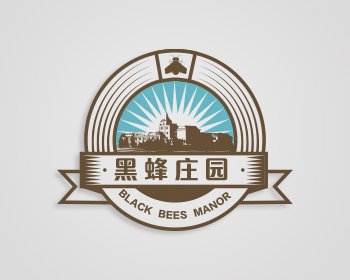 'Hei Feng'Resort hotel Logo-Chinese Logo design