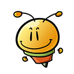 8afab2e9a8340dfc59ee46b295db0777 Cute little bee free smiley emoticons bee emoticons bee emoji