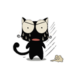 Black cat text messaging emoticons