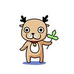 Cute little deer anime emoticons