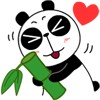 Act cute  panda face images