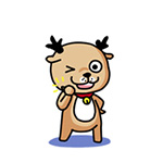 Cute little milu deer emoticons download