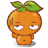 Lovely orange doll free animated emoticons