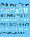 Beautiful flower pattern Font-Simplified Chinese