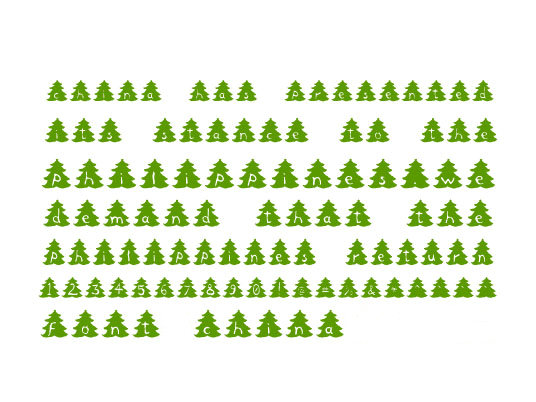 Christmas Tree Font Download