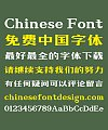 Zao zi Gong fang Golden Section Simsun bold face Font-Simplified Chinese